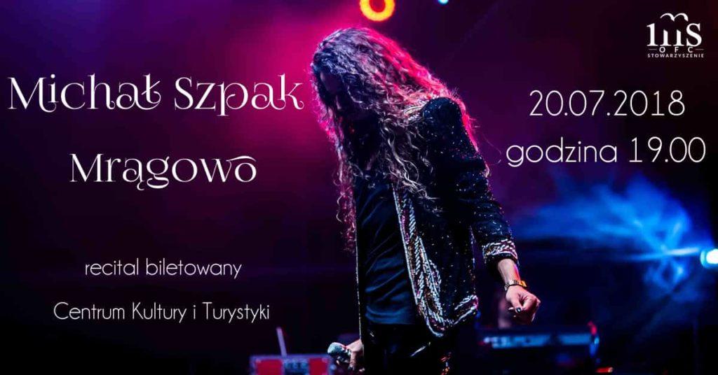 Michał Szpak, koncert Mrągowo